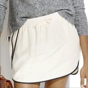 Madewell Cream Silk Skirt